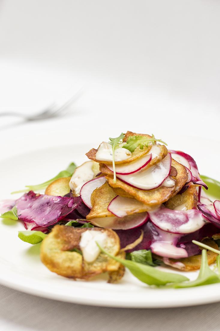 Beetroot, Radish & Chips salads